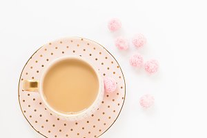 Stock Photo - Pink & Gold Teacup III