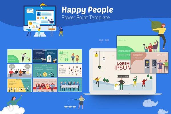 Happy People PowerPoint Infographic…