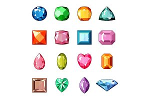 Diamond vector crystal stone and gem