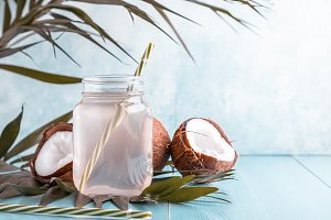Coconut water and coconuts