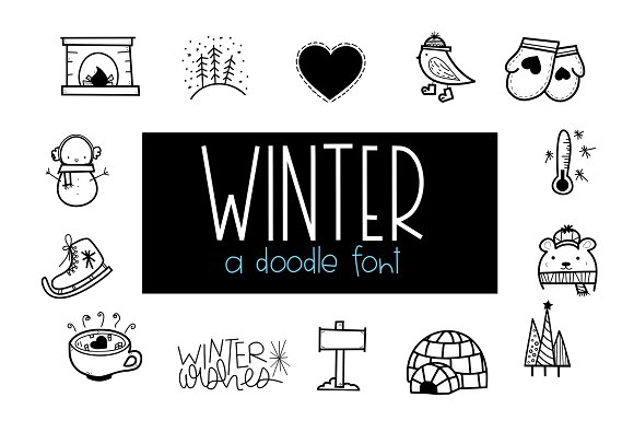Winter Wishes - A Doodles Font