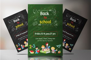 Back To School Party Flyer V827