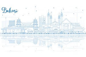 Outline Bekasi Indonesia City