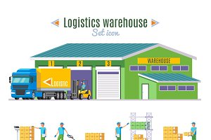 Logistic Warehouse Elements Set