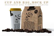 Cap And Paper Bag Mock Up