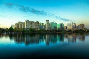 Orlando Skyline, Lake Eola