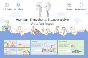 Human Emotions Illustrative Template