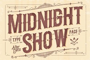 Midnight Show typeface
