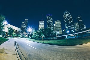City street in Houston, Texas