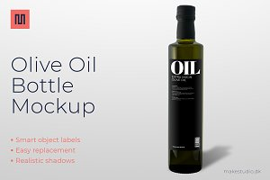 Olive oil - Bottle mockup