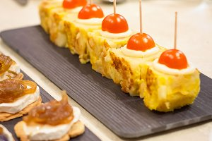 Spanish omelet tapas and pinchos