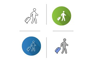 Person with baggage icon