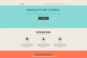 DW One Page Retro - WordPress Theme
