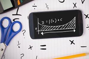 Phone on a school table