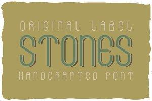 Stones font + bonus label
