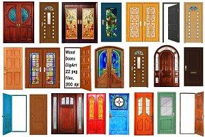 Wooden Doors Clip Art