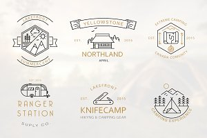 Iconic Camping Logo Badges