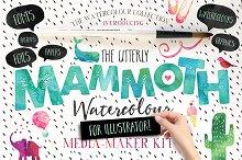 Mammoth Watercolour for Illustrator