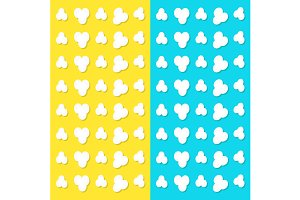 Popcorn popping pattern background
