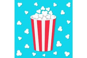 Popcorn round bucket box.