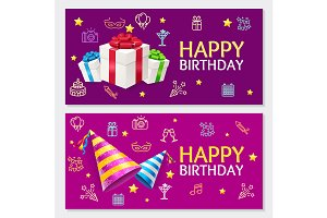Birthday Banner Card Horizontal