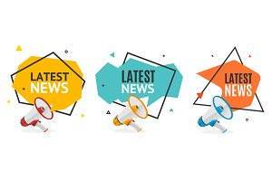 Latest News Banner Abstract Design
