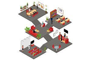 Office Interior with Furniture