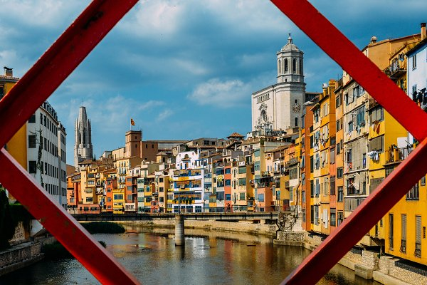 Architecture Stock Photos: Alexandre Rotenberg Photo - Iron Bridge, Girona, Spain
