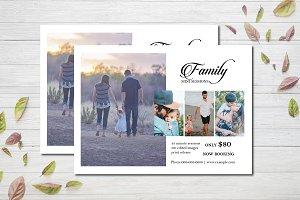 Family mini session template V828