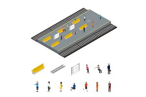 Depicting Subway Station Isometric
