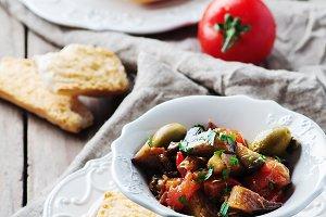 Traditional sicilian dish caponata