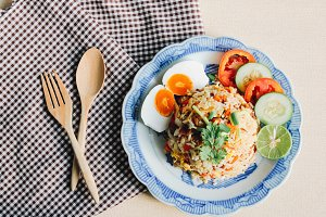 Delicious Thai fried rice