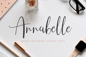 Annabelle Hand Lettering Script Font