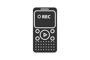 Dictaphone glyph icon