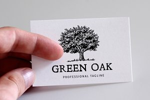 Green Oak Logo Template