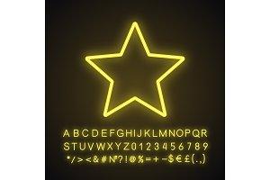 Star neon light icon