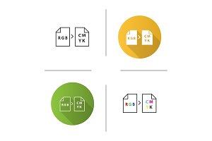 Color models conversion icon