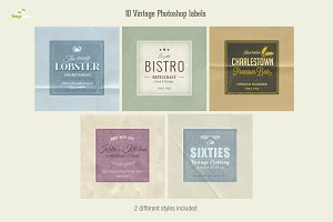 10 Photoshop Labels (2 styles)