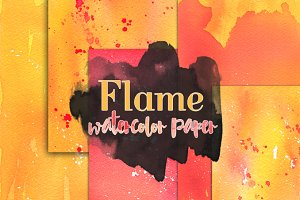 Flame - Watercolor Paper