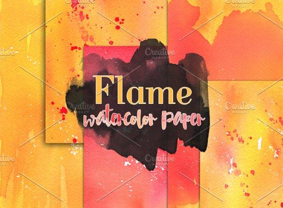 Flame - Watercolor Paper