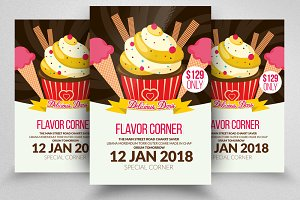 Ice Cream Cup Flyer Templates