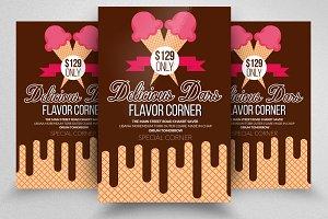 Chocolate Wafer Ice Cream Flyer