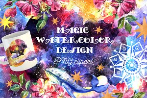 Magic watercolor design