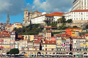 Overview of Old Town of Porto, Portu