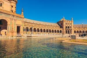 View of Beautiful Plaza de Espana, S