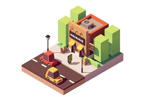 Vector isometric insurance agency