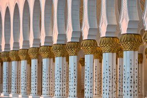 Sheikh Zayed White Mosque in Abu Dha