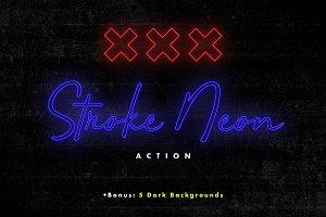 Stroke Neon Action