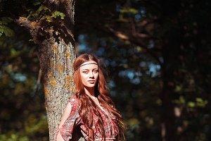 Beautiful young hippie girl