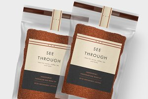 Transparent Packaging Bag Mock Up